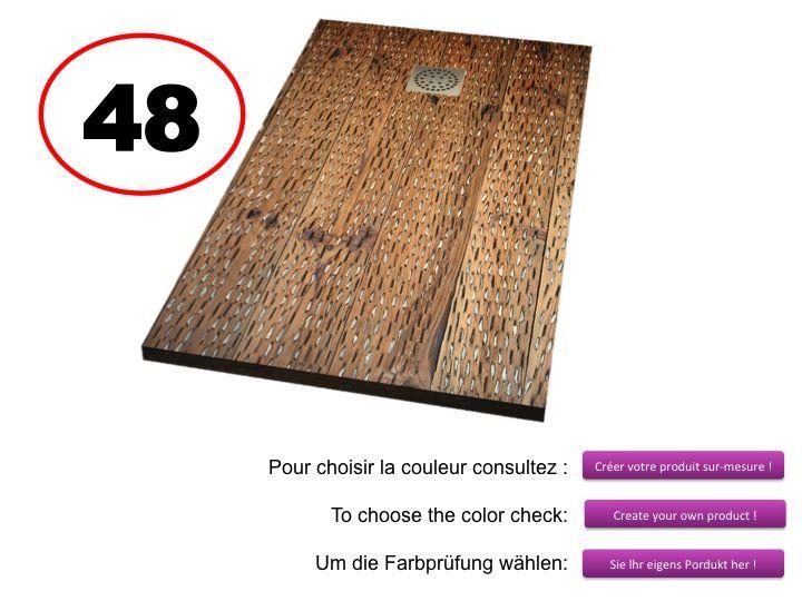 Receveurs de douches longueur 140 receveur de douche 140 cm imagik bois - Receveur douche bois ...