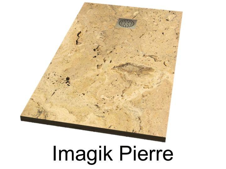 receveurs de douches longueur 170 receveur de douche 170 cm imagik pierre. Black Bedroom Furniture Sets. Home Design Ideas
