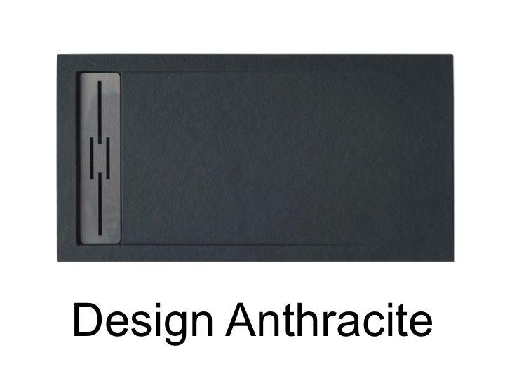 receveurs de douches longueur 170 receveur de douche 170 cm en r sine caniveau effet pierre. Black Bedroom Furniture Sets. Home Design Ideas