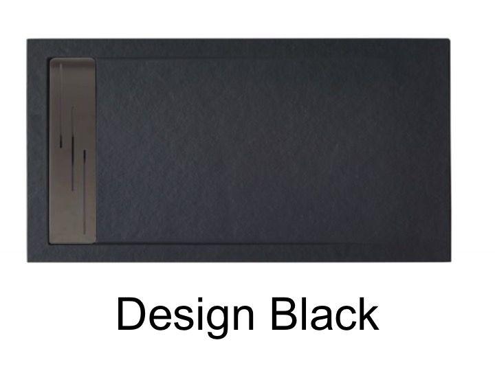 receveurs de douches longueur 140 receveur de douche 140 cm en r sine caniveau effet pierre. Black Bedroom Furniture Sets. Home Design Ideas