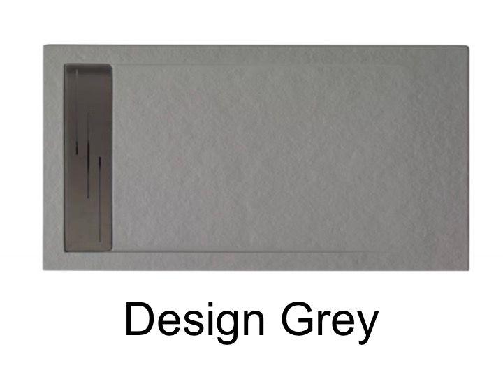 receveurs de douches longueur 160 receveur de douche 160 cm en r sine caniveau effet pierre. Black Bedroom Furniture Sets. Home Design Ideas
