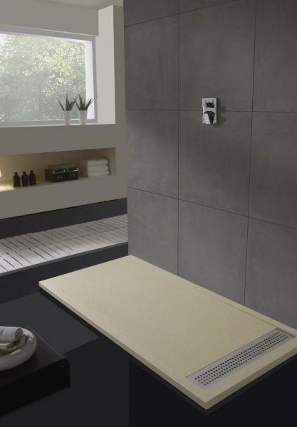 receveur de douche 110 cm en r sine caniveau effet. Black Bedroom Furniture Sets. Home Design Ideas