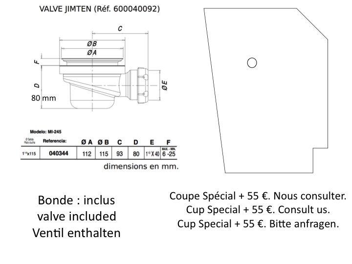receveurs de douches longueur 120 receveur de douche 120 cm en r sine bac douche l. Black Bedroom Furniture Sets. Home Design Ideas