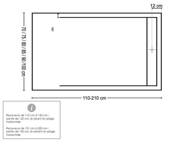 receveurs de douches longueur 180 receveur de douche 180 cm en r sine bac douche l. Black Bedroom Furniture Sets. Home Design Ideas