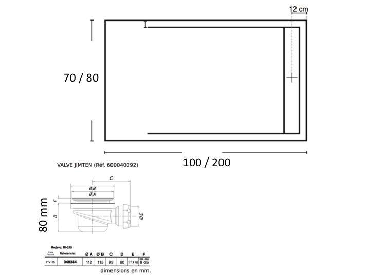 receveurs de douches longueur 100 receveur de douche 100 cm en r sine bac douche l. Black Bedroom Furniture Sets. Home Design Ideas