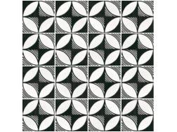Compass b w 20x20 carrelage imitation carreaux de ciment - Gres cerame imitation carreaux de ciment ...