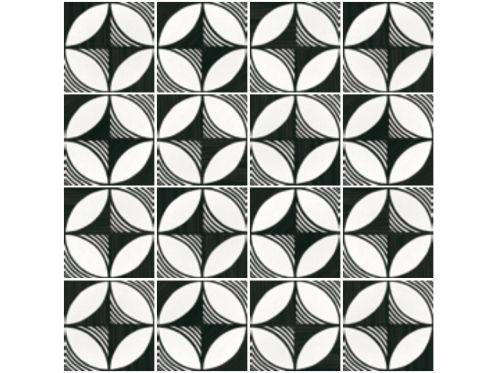 carrelages mosa ques et galets aspect cx ciment art deco 4 b w 20x20 carrelage imitation. Black Bedroom Furniture Sets. Home Design Ideas