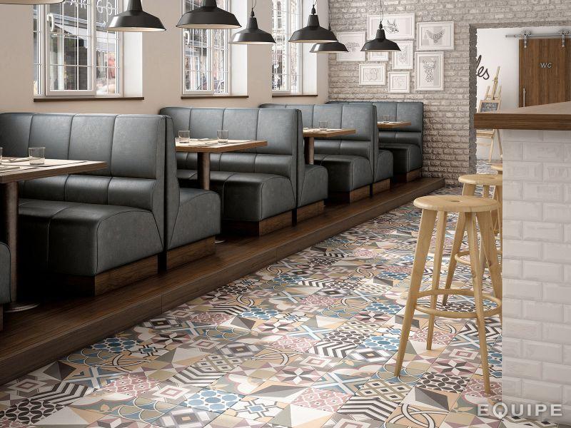 Carrelage sol et mur c ciment imitation art deco 1 - Deco carreaux de ciment ...