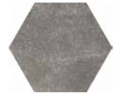 Hexagonal Cement Black Mate 17,5x20 - Carrelage de sol hexagonal,  imitation carreaux de ciment, grès Cérame.