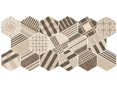art deco 4 hexagonal cement geo sand 17 5x20 carrelage. Black Bedroom Furniture Sets. Home Design Ideas