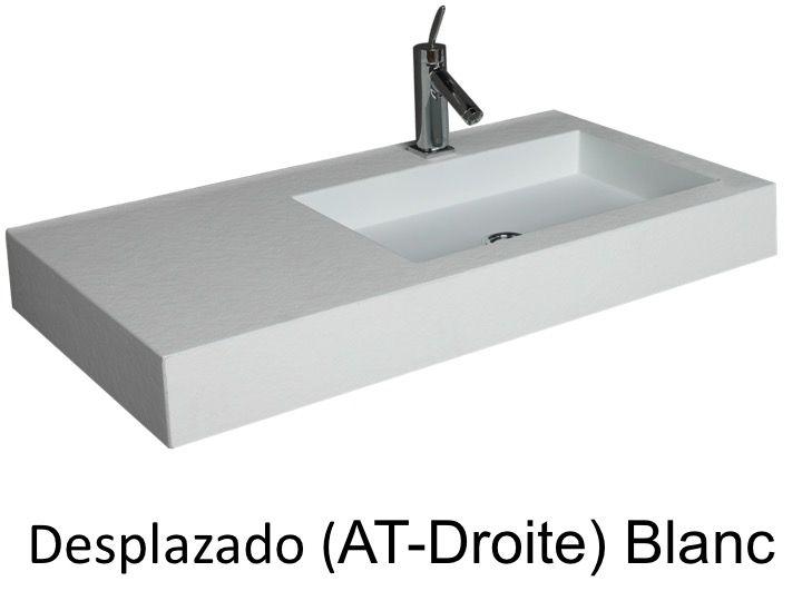plan vasque suspendue ou encastrer dcentr droite largeur 100 cm en - 100 Cm Plan Vasque