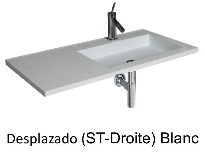 vasques largeur 100 plan vasque suspendue ou encastrer d centr droite largeur 100 cm. Black Bedroom Furniture Sets. Home Design Ideas