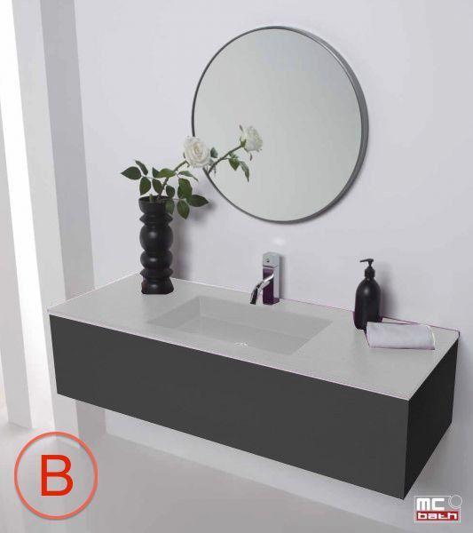 vasques largeur 80 plan vasque suspendue ou encastrer largeur 80 cm en r sine stil lisso. Black Bedroom Furniture Sets. Home Design Ideas