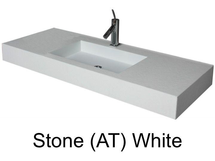 vasques largeur 70 plan vasque suspendue ou encastrer largeur 70 cm en r sine stone blanc. Black Bedroom Furniture Sets. Home Design Ideas