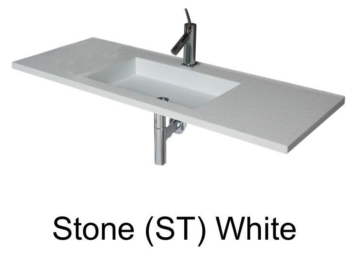 vasques largeur 70 plan vasque suspendue ou encastrer largeur 70 cm en r sine stone sans. Black Bedroom Furniture Sets. Home Design Ideas