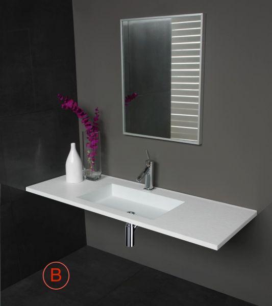 vasques largeur 100 plan vasque suspendue ou encastrer largeur 100 cm en r sine stone. Black Bedroom Furniture Sets. Home Design Ideas