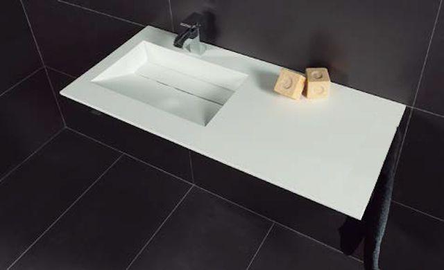 vasques largeur 160 vasque suspendue ou encastrer largeur 160 cm en r sine cooper blanc. Black Bedroom Furniture Sets. Home Design Ideas