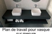 vasques corian type vasque 30x75 cm en r sine solid surface rodas blanc. Black Bedroom Furniture Sets. Home Design Ideas