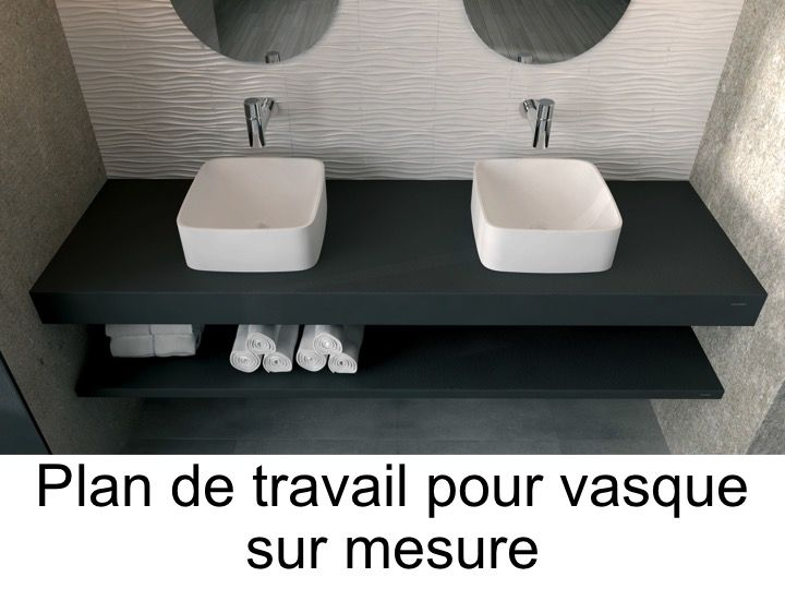 vasques plan vasque plan de travail sur mesure en r sine pour vasque de salle de bain poser. Black Bedroom Furniture Sets. Home Design Ideas
