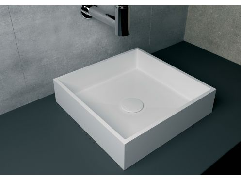 vasques corian type vasque 40x40 cm en r sine solid. Black Bedroom Furniture Sets. Home Design Ideas