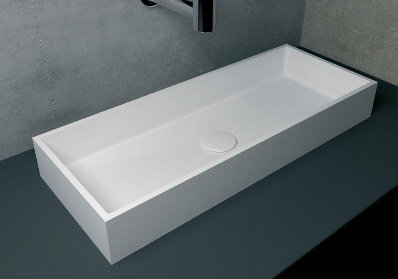 vasques corian type vasque 30x75 cm en r sine solid. Black Bedroom Furniture Sets. Home Design Ideas