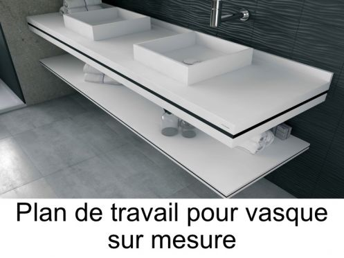vasques plan vasque plan de toilette sur mesure en solid. Black Bedroom Furniture Sets. Home Design Ideas