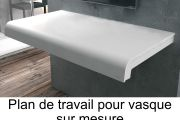 vasques corian type vasque 30x75 cm en r sine solid surface rodas blanc. Black Bedroom Furniture Sets. Home Design Ideas