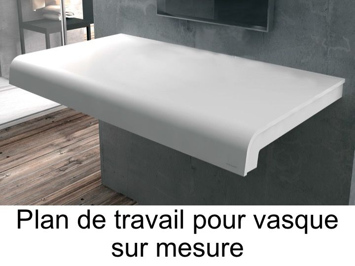 vasques plan vasque plan de travail sur mesure en solid surface pour vasque de salle de bain. Black Bedroom Furniture Sets. Home Design Ideas