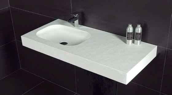 vasques largeur 140 plan vasque suspendue ou encastrer largeur 140 cm en r sine oba. Black Bedroom Furniture Sets. Home Design Ideas