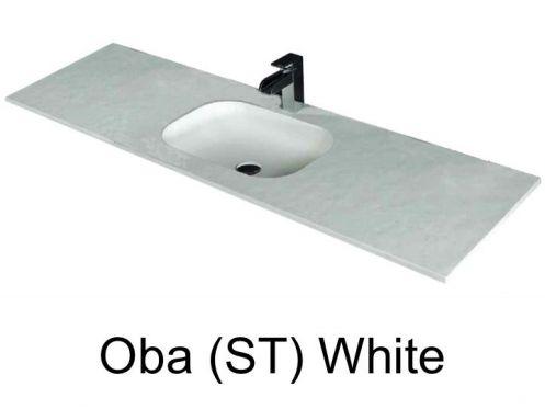 vasques largeur 80 plan vasque suspendue ou encastrer largeur 80 cm en r sine oba sans. Black Bedroom Furniture Sets. Home Design Ideas