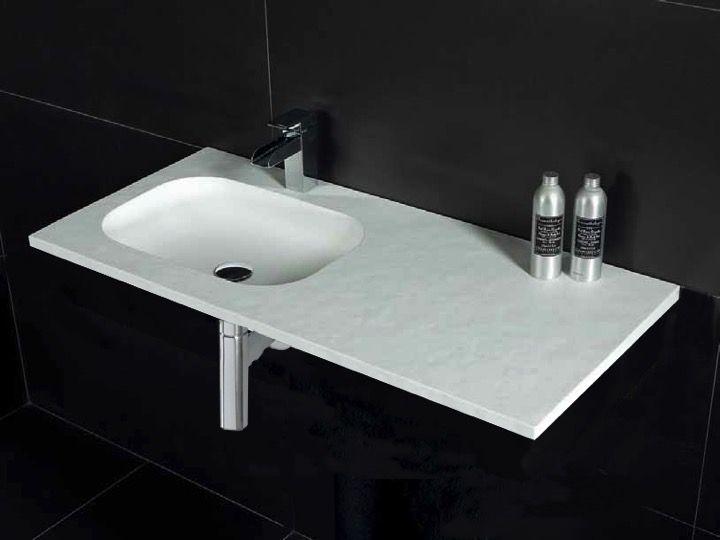 vasques largeur 120 plan vasque suspendue ou encastrer largeur 120 cm en r sine oba sans. Black Bedroom Furniture Sets. Home Design Ideas