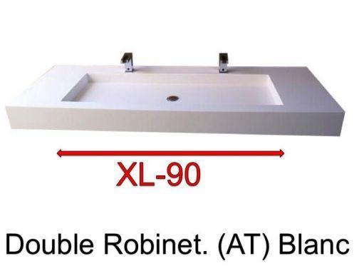 vasques largeur 140 plan vasque suspendue ou encastrer double robinetterie largeur 140 cm. Black Bedroom Furniture Sets. Home Design Ideas