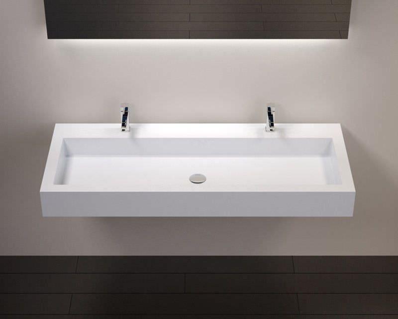 vasques largeur 150 plan vasque suspendue ou encastrer double robinetterie largeur 150 cm. Black Bedroom Furniture Sets. Home Design Ideas