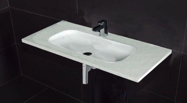 Vasques largeur 110 plan vasque suspendue ou encastrer largeur 110 cm en r sine oba xl - Vasque salle de bain 110 cm ...