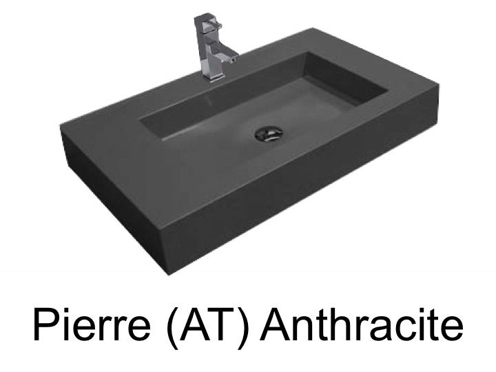 vasques largeur 110 vasque suspendue ou encastrer largeur 110 x 46 cm en r sine pierre. Black Bedroom Furniture Sets. Home Design Ideas