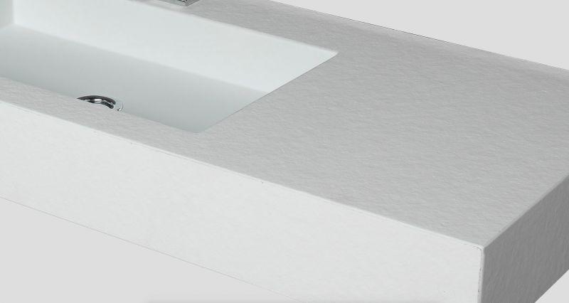 vasques largeur 110 vasque suspendue ou encastrer largeur 110 x 46 cm en r sine pierre noir. Black Bedroom Furniture Sets. Home Design Ideas
