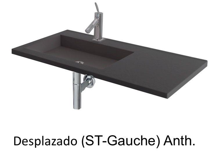 vasques largeur 160 plan vasque suspendue ou encastrer d centr gauche largeur 160 cm. Black Bedroom Furniture Sets. Home Design Ideas