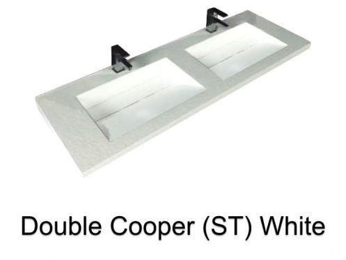 vasques largeur 120 plan double vasques suspendue ou encastrer largeur 120 cm en r sine. Black Bedroom Furniture Sets. Home Design Ideas