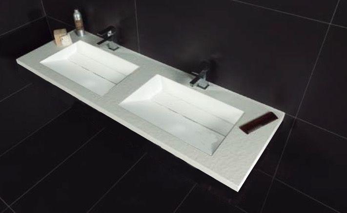 Vasques Largeur 120 Plan Double Vasques Suspendue Ou à Encastrer