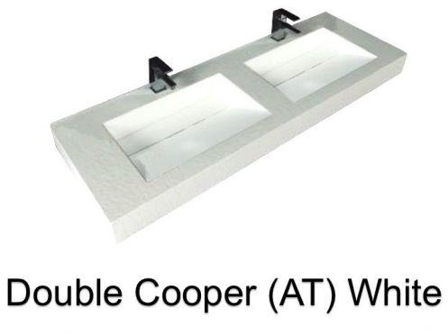 vasques largeur 130 plan double vasques suspendue ou encastrer largeur 130 cm en r sine. Black Bedroom Furniture Sets. Home Design Ideas