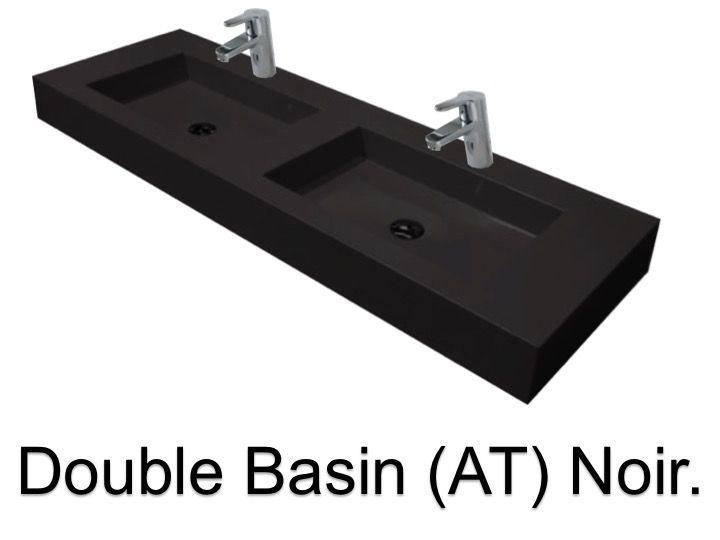 Vasques Largeur 170 Plan Double Vasques Suspendue Ou à Encastrer