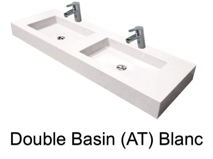 vasques largeur 200 plan double vasques suspendue ou encastrer largeur 200 cm en r sine. Black Bedroom Furniture Sets. Home Design Ideas