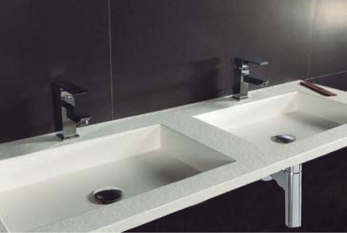Vasques Largeur 150 Plan Double Vasques Suspendue Ou à Encastrer
