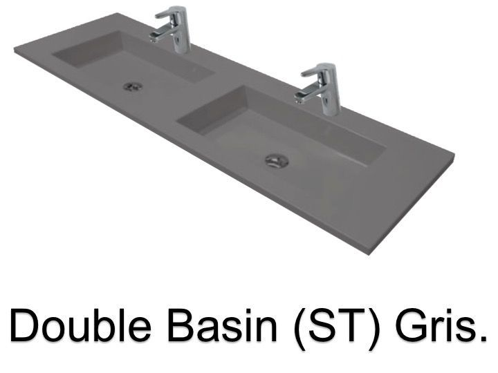Vasques largeur 180 plan double vasques suspendue ou for Vasque salle de bain a encastrer