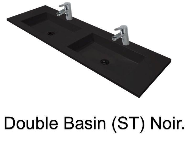 Vasques Largeur 180 - Plan Double vasques suspendue ou à encastrer ...