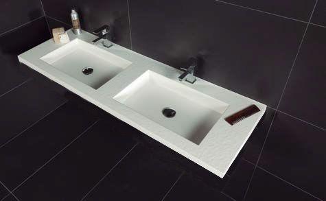 vasques largeur 210 plan double vasques suspendue ou encastrer largeur 210 cm en r sine. Black Bedroom Furniture Sets. Home Design Ideas