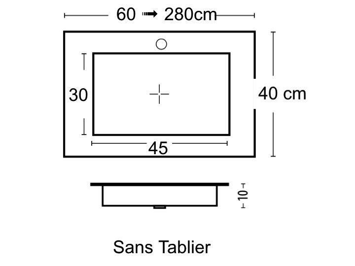 vasques largeur 80 plan vasque type corian 80 x 40 cm en r sine solid surface blanc sans. Black Bedroom Furniture Sets. Home Design Ideas
