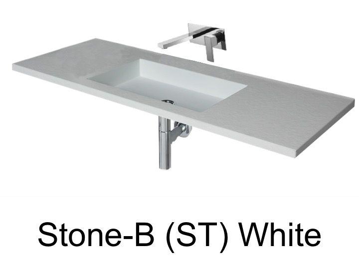 vasques largeur 80 plan vasque suspendue ou encastrer largeur 80 cm en r sine stone sans. Black Bedroom Furniture Sets. Home Design Ideas