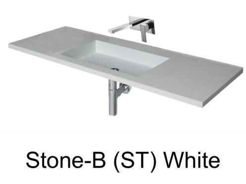 Vasques largeur 110 plan vasque suspendue ou encastrer largeur 110 cm en r sine stone - Vasque salle de bain 110 cm ...