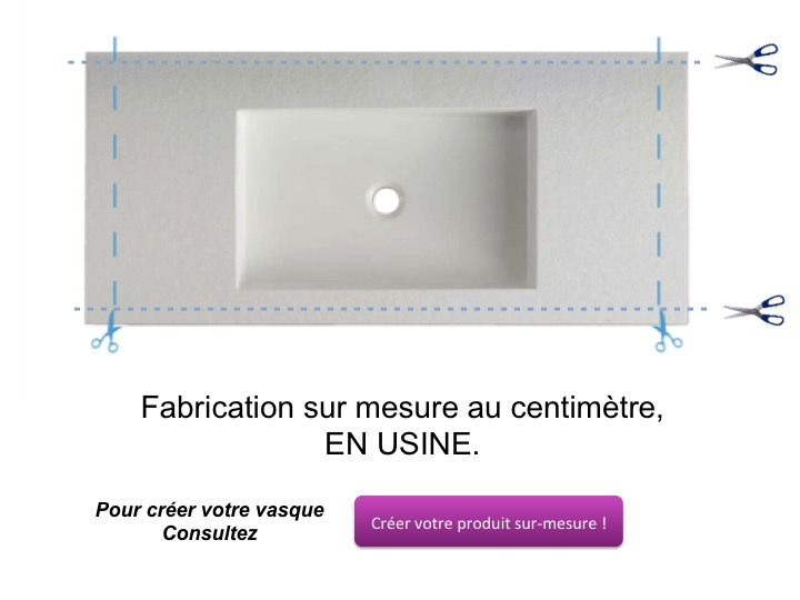 Vasques largeur 80 plan vasque suspendue ou encastrer largeur 80 cm en - Plan de travail 80cm de large ...